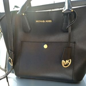 Michael Kors black Greenwich Tote